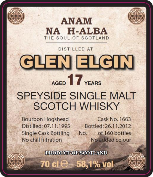 Glen Elgin 1995 ANHA