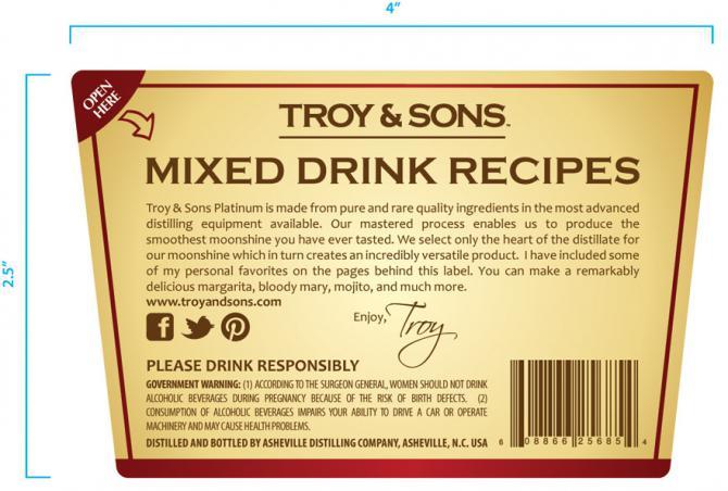 Troy & Sons Platinum Moonshine