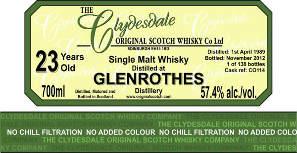 Glenrothes 1989 TCO