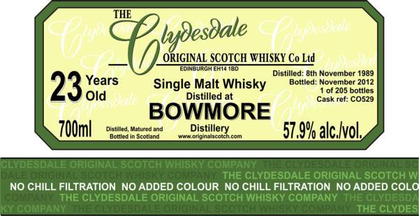 Bowmore 1989 TCO
