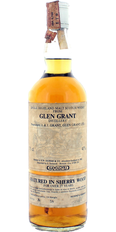 Glen Grant 27-year-old RWD