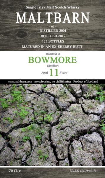 Bowmore 2001 MBa