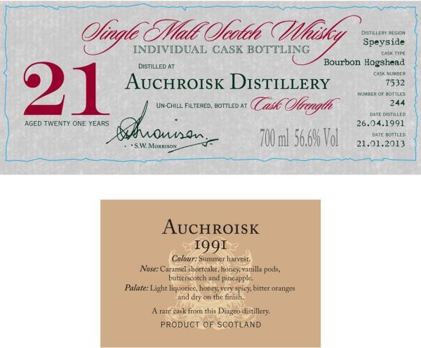 Auchroisk 1991 DR
