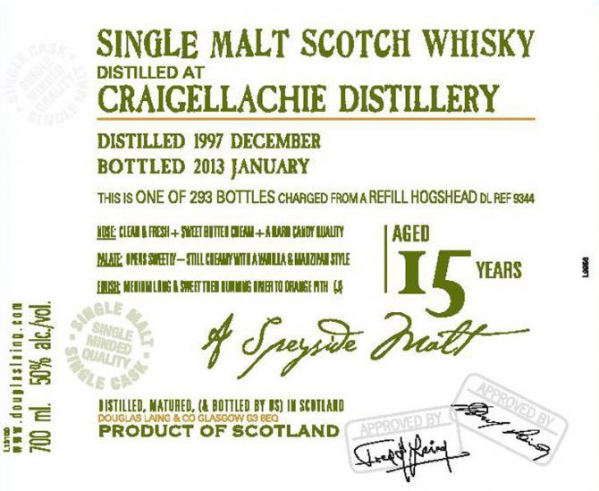 Craigellachie 1997 DL