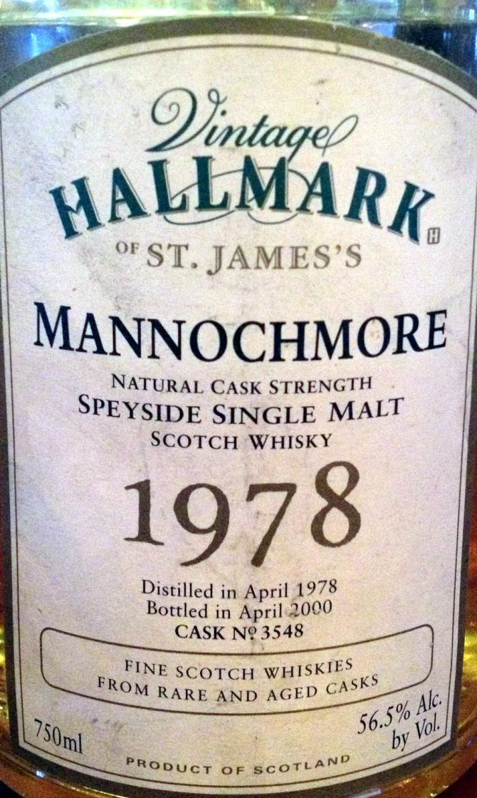Mannochmore 1978 HSJ