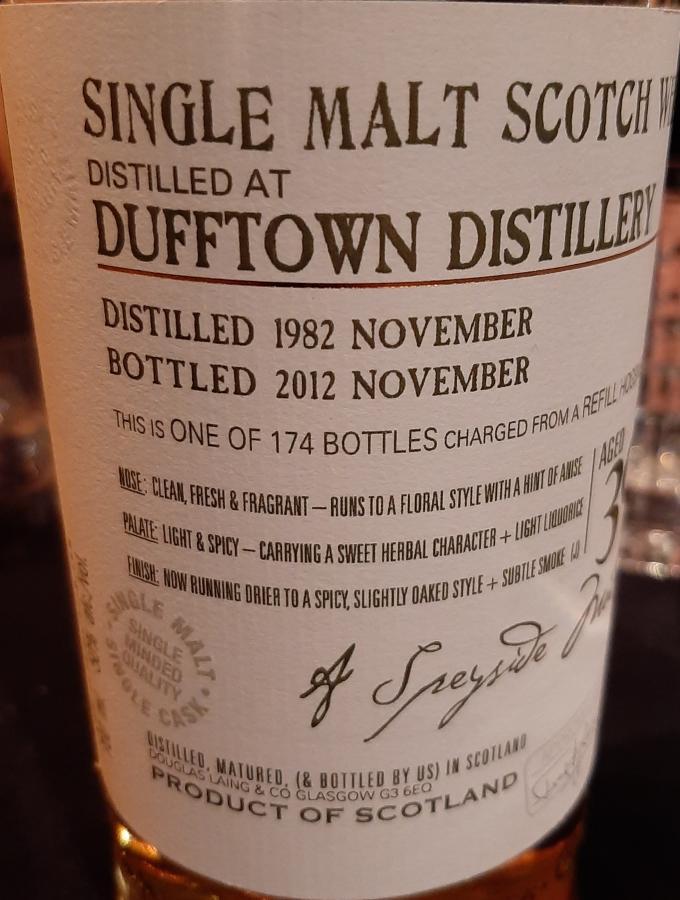 Dufftown 1982 DL