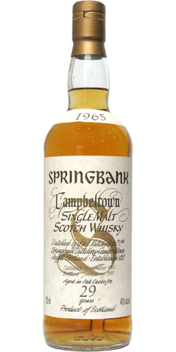Springbank 1965