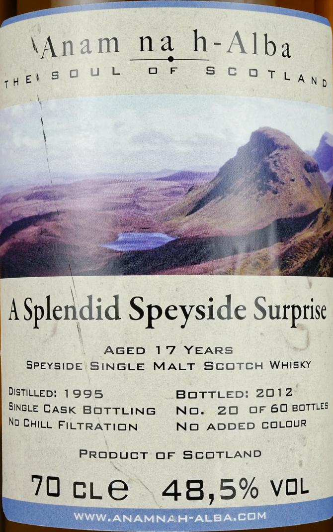 A Splendid Speyside Surprise 1995 ANHA