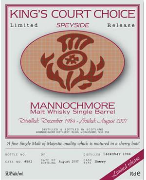 Mannochmore 1984 KCWS