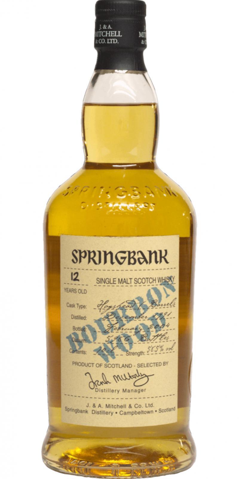 Springbank 1991 Bourbon