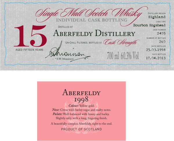 Aberfeldy 1998 DR