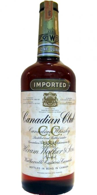 Canadian Club 1973 Imported