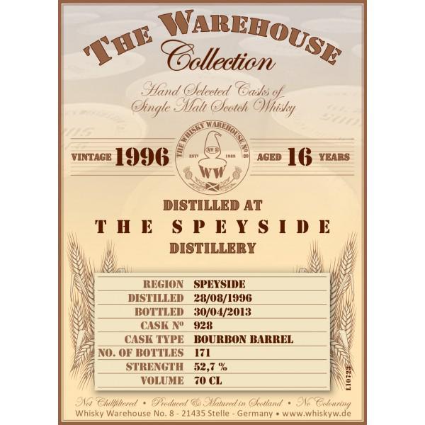 Speyside Distillery 1996 WW8