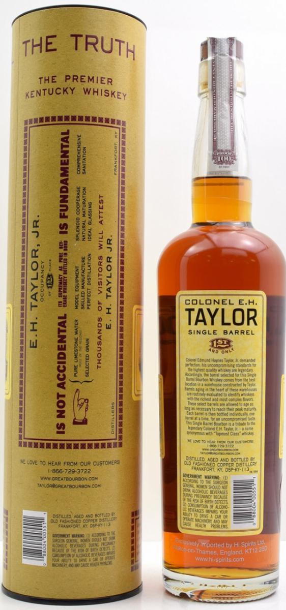 Colonel E.H. Taylor Single Barrel