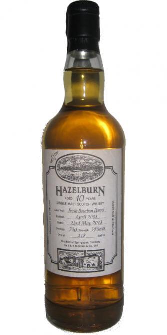 Hazelburn 2003