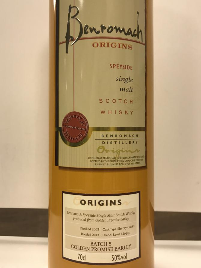 Benromach 2005 - Origins