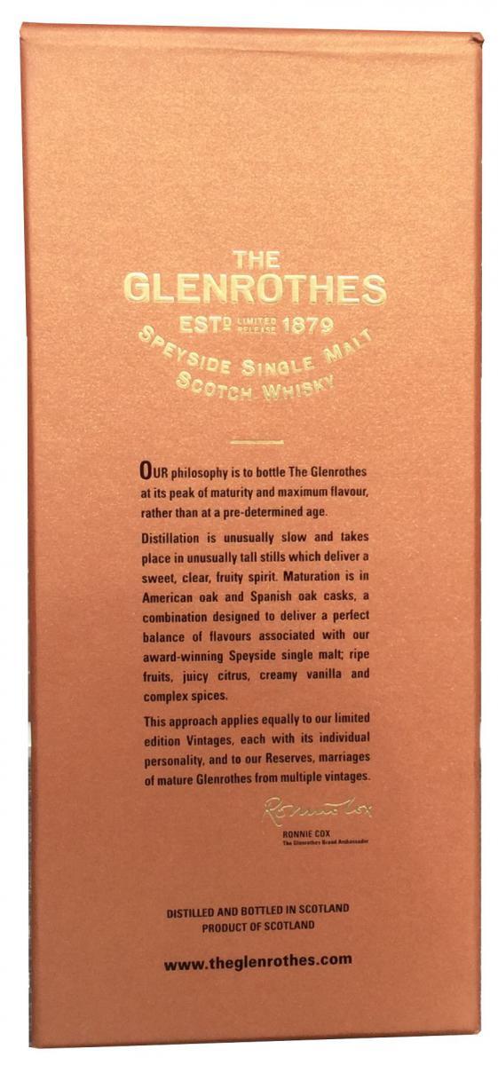 Glenrothes Oldest Reserve