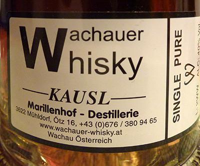 Wachauer Whisky Single Pur W