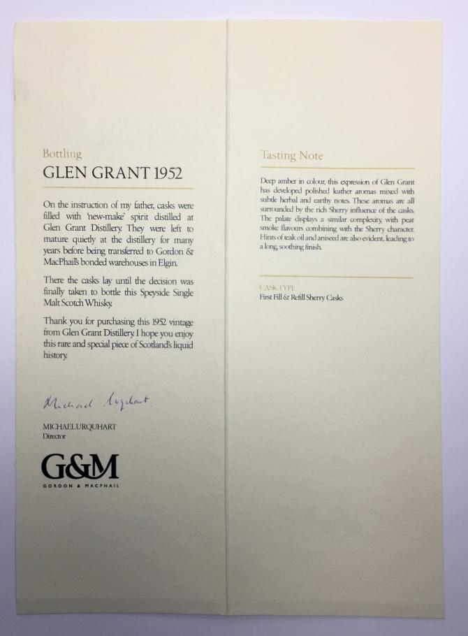 Glen Grant 1952 GM