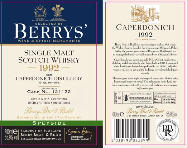 Caperdonich 1992 BR