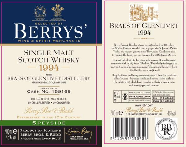 Braes of Glenlivet 1994 BR