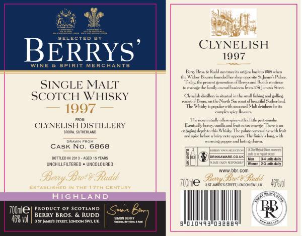 Clynelish 1997 BR