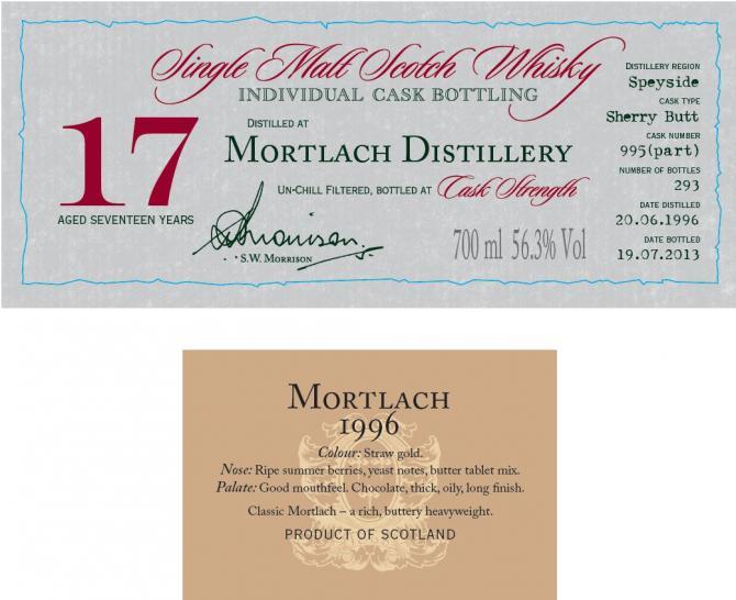 Mortlach 1996 DR