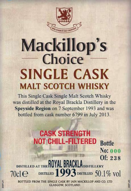 Royal Brackla 1993 McC