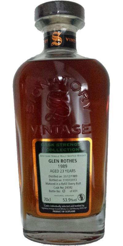 Glenrothes 1989 SV