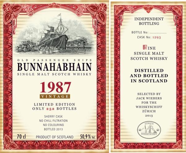 Bunnahabhain 1987 JW