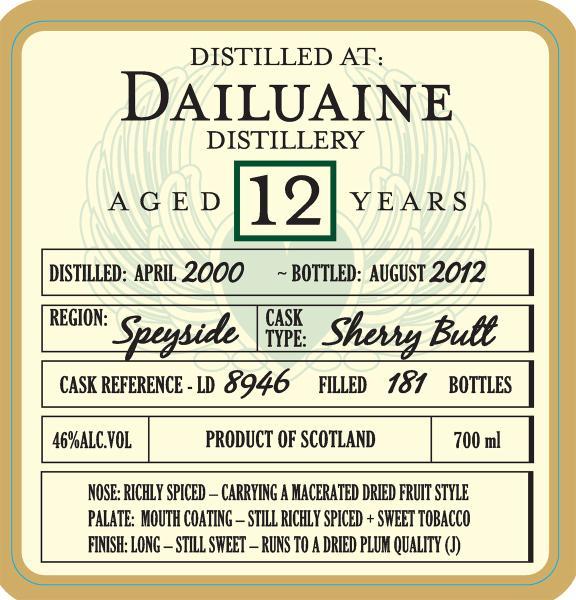 Dailuaine 2000 DoD