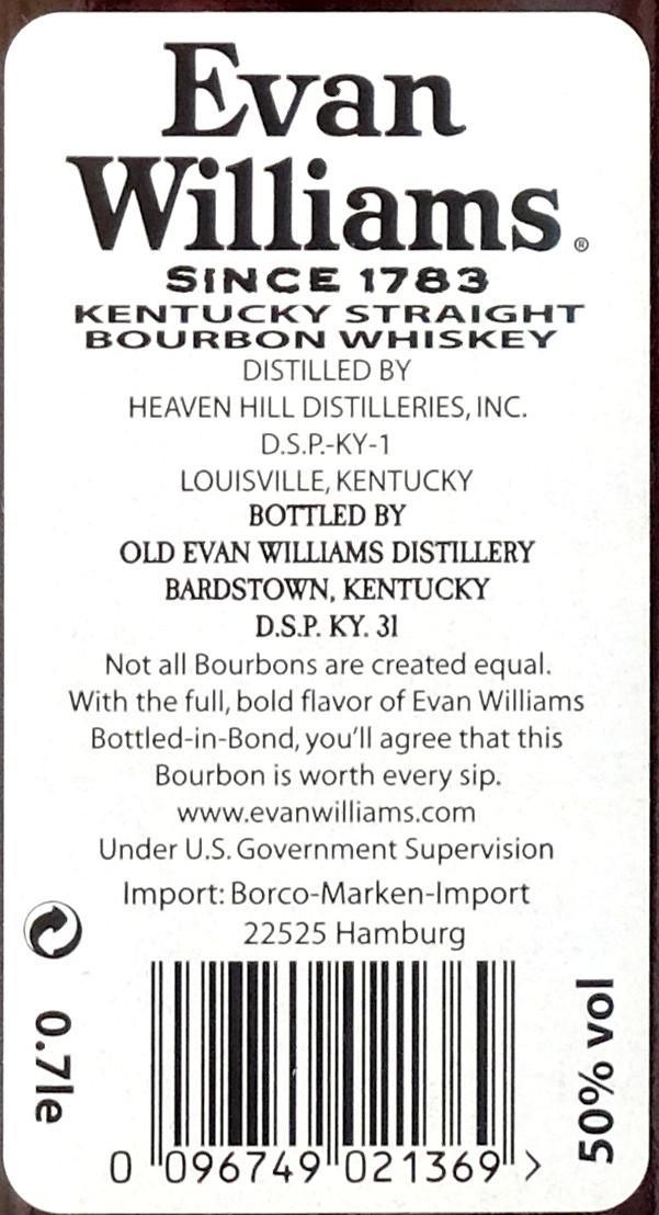Evan Williams 100 Proof - Bottled-In-Bond