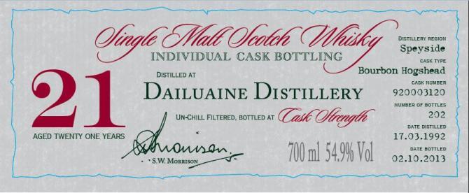 Dailuaine 1992 DR