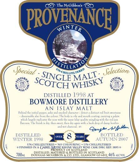 Bowmore 1998 McG