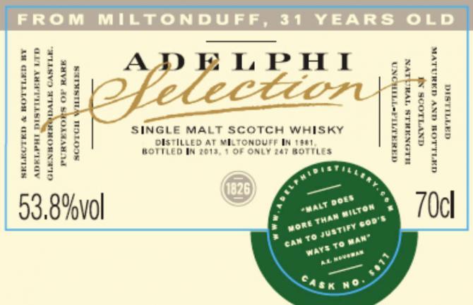 Miltonduff 1981 AD