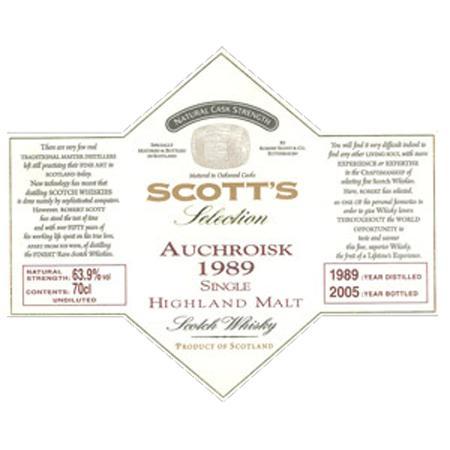 Auchroisk 1989 Sc