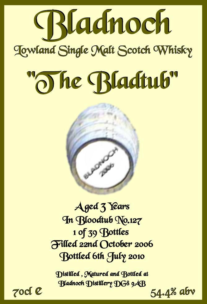 Bladnoch 2006 The Bladtub