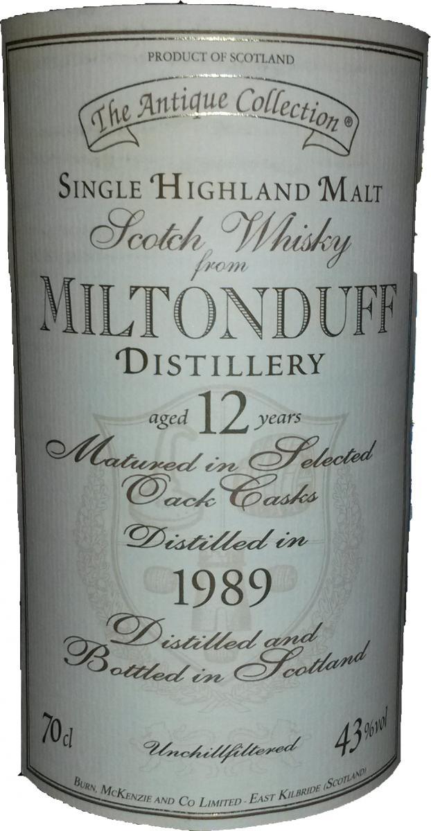 Miltonduff 1989 BMcK