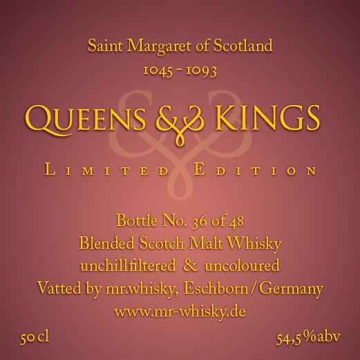 Queens & Kings St. Margaret of Scotland 1045-1093 MrW