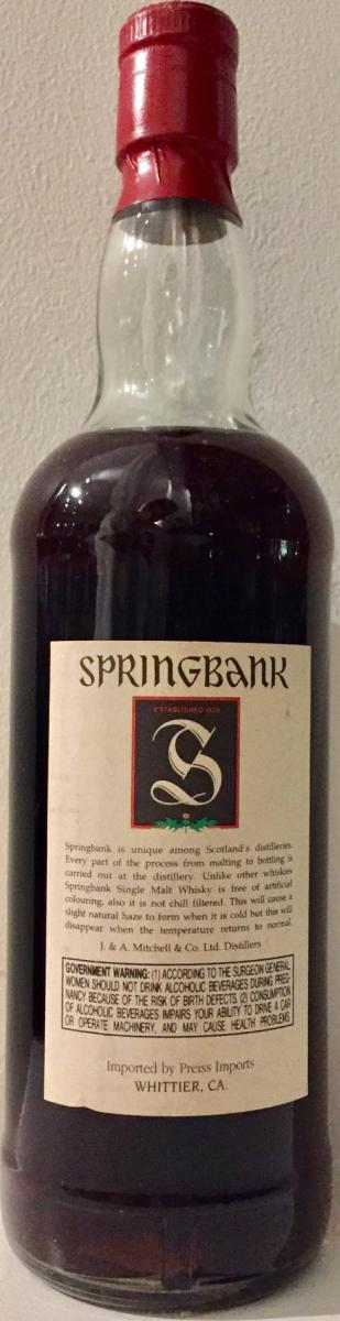 Springbank 100° Proof
