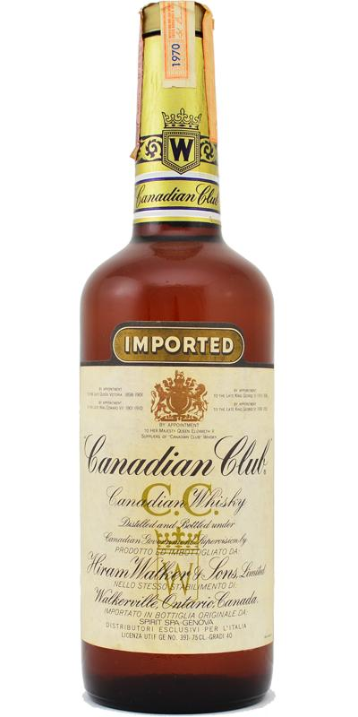Canadian Club 1970 Imported
