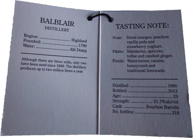 Balblair 1990 CA