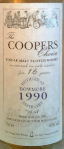 Bowmore 1990 CC