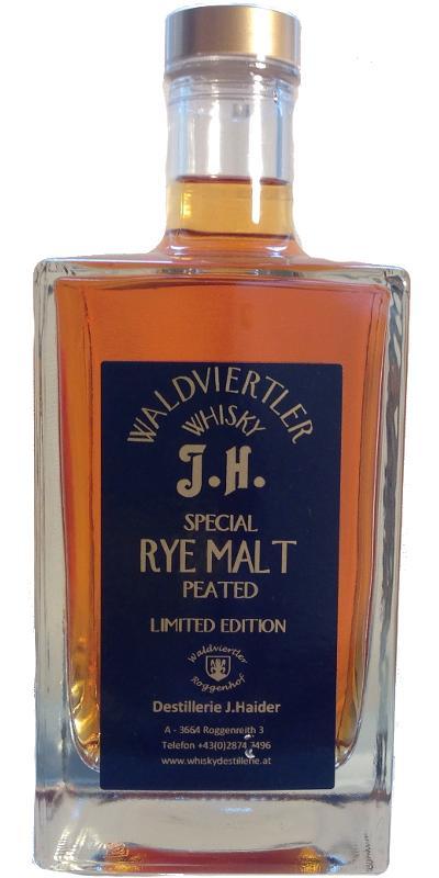 Waldviertler Whisky J.H. Special Rye Malt - Peated
