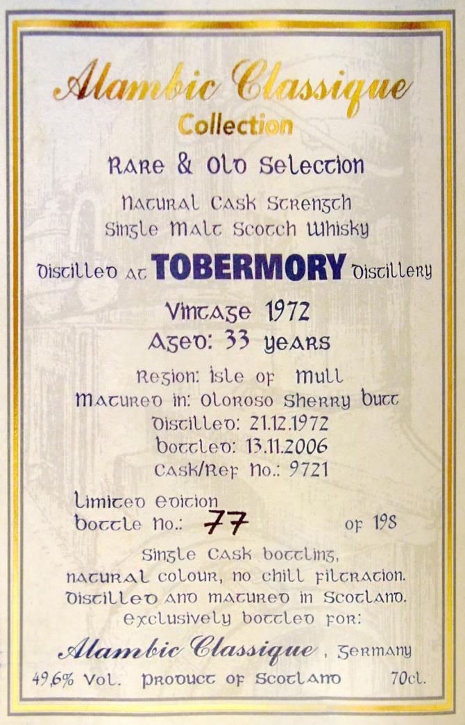 Tobermory 1972 AC