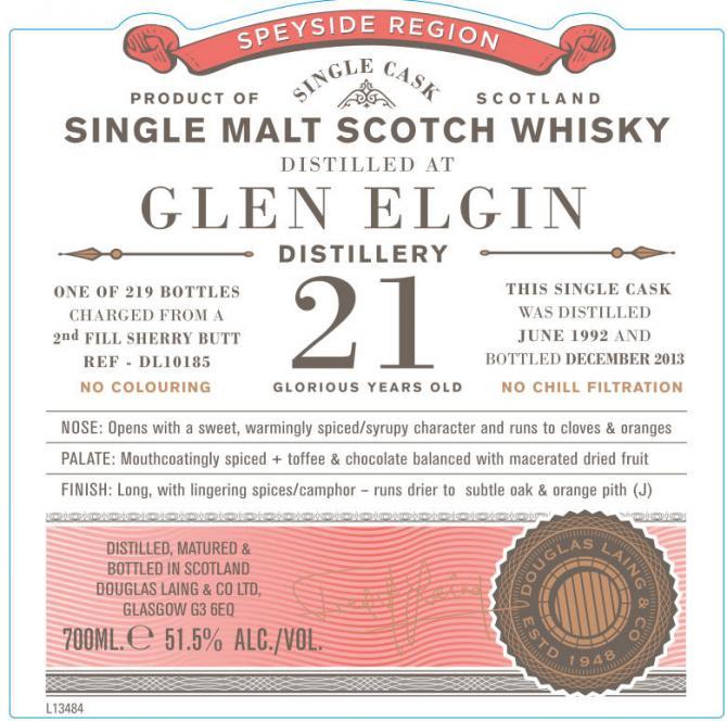 Glen Elgin 1992 DL