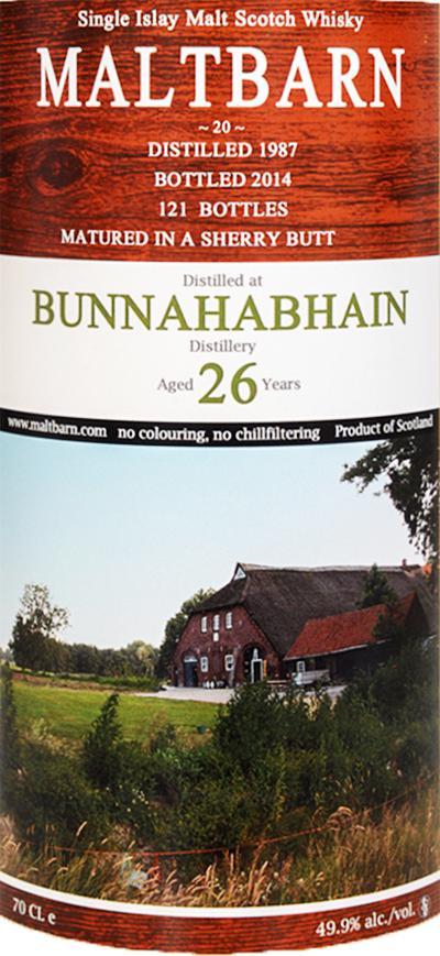 Bunnahabhain 1987 MBa