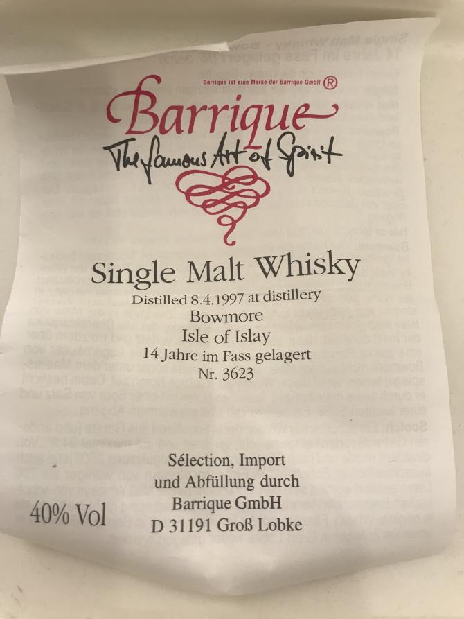 Bowmore 1997 Bq
