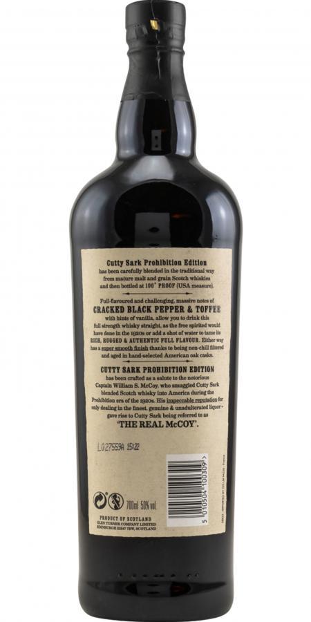 Cutty Sark Prohibition Edition