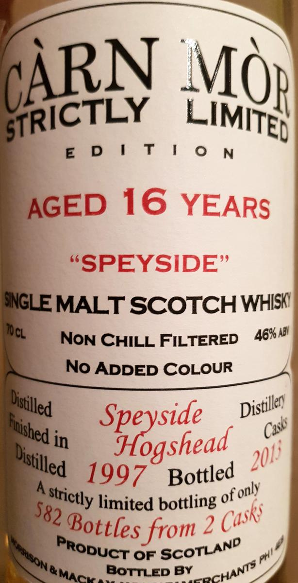 Speyside Distillery 1997 MMcK